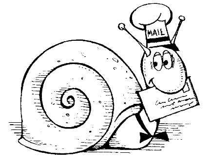 Now that's snailmail!