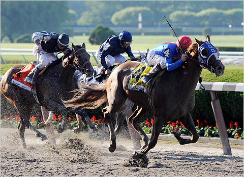 Summer Bird and Kent Desormeaux win the 141st Belmont Stakes