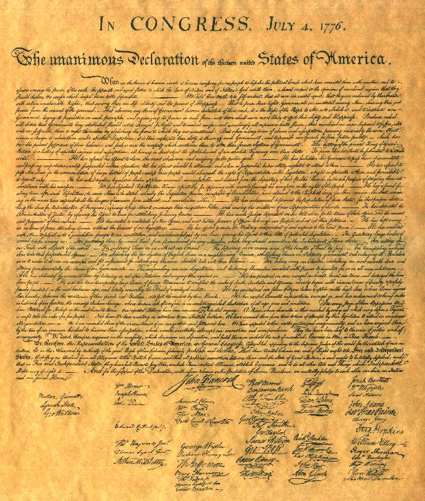 4th of July!!! Declaration