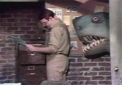 Land shark sneaking up on Dan Akroyd