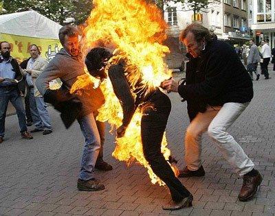 Сожжение человека