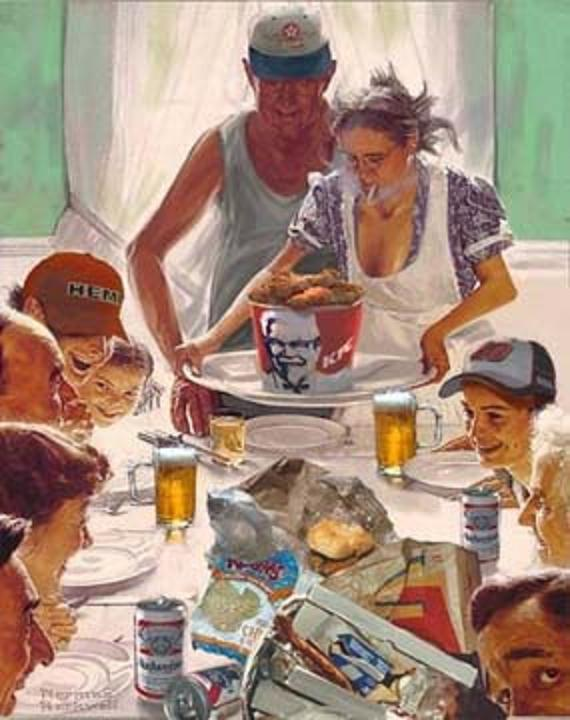 Pic Of The Day: Norman Rockwell Redneck Christmas Dinner | THE ...
