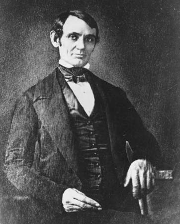 Image result for lincoln giving an address in 1832