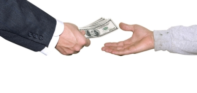 Image result for handing over money