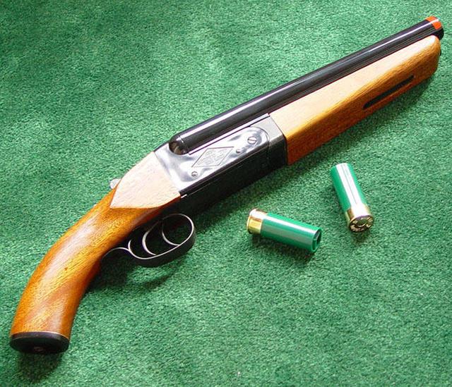 Burglar Shot With His Own Sawed-Off Shotgun