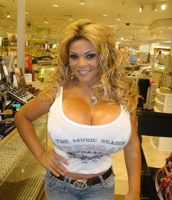 size Largest breast
