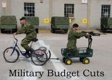 military budget cuts