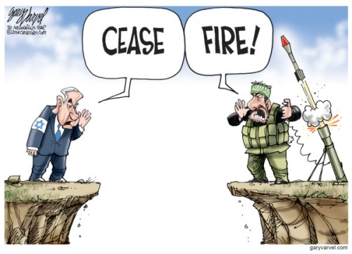 Cartoonist Gary Varvel: The Israel, Hamas cease fire
