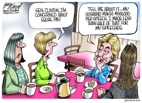 Sen. Hillary Clinton is trying to identify with middle class women on her Presidential campaign listening tour.