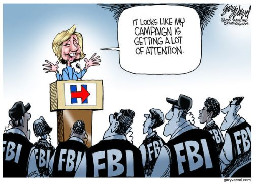 Cartoonist Gary Varvel: FBI looks into Hillary's email server